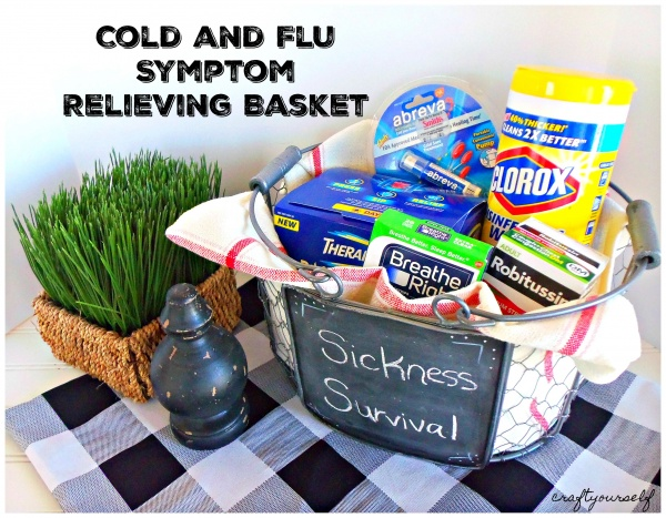 cold and flu symptom basket