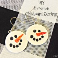 DIY Snowmen Chipboard Earrings