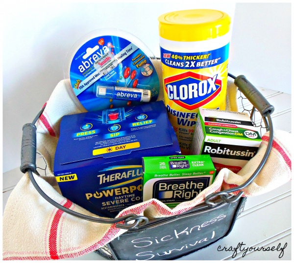 sickness survival basket filled