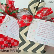 Easy Sewn Fabric Christmas Gift Bags