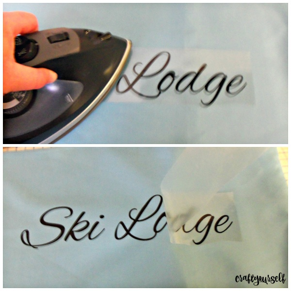 ski lodge iron on