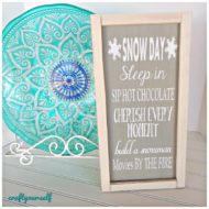 Snow Day Winter Home Decor Sign