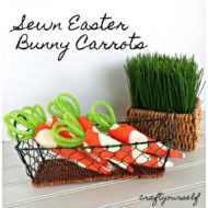 Quick and Easy Sewn Easter Bunny Carrots