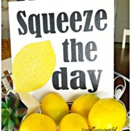 Squeeze the Day 3-D Lemon Sign