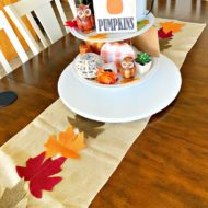 Festive Fall Leaf Sewn Table Runner