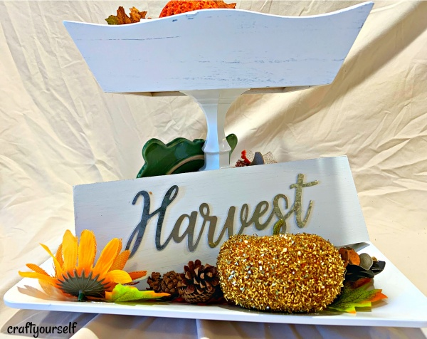 harvest tray front view