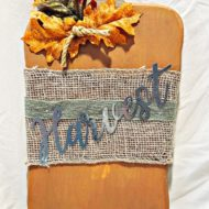 Fall Harvest Wood Pumpkin