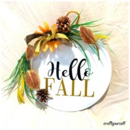 DIY – Hello Fall Metal Wall Hanger