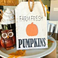 Fall Farm Fresh Pumpkins Mini Tag