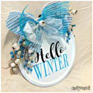 Hello Winter metal wall craft
